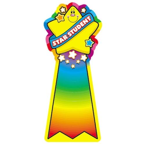 500x500 Star Student Reward Ribbon Stickers School Bulletin Board