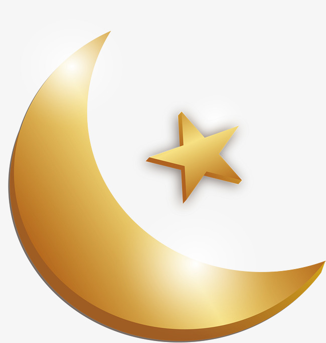 650x682 Golden Moon Star, Vector Png, Islamism, Islam Png And Vector