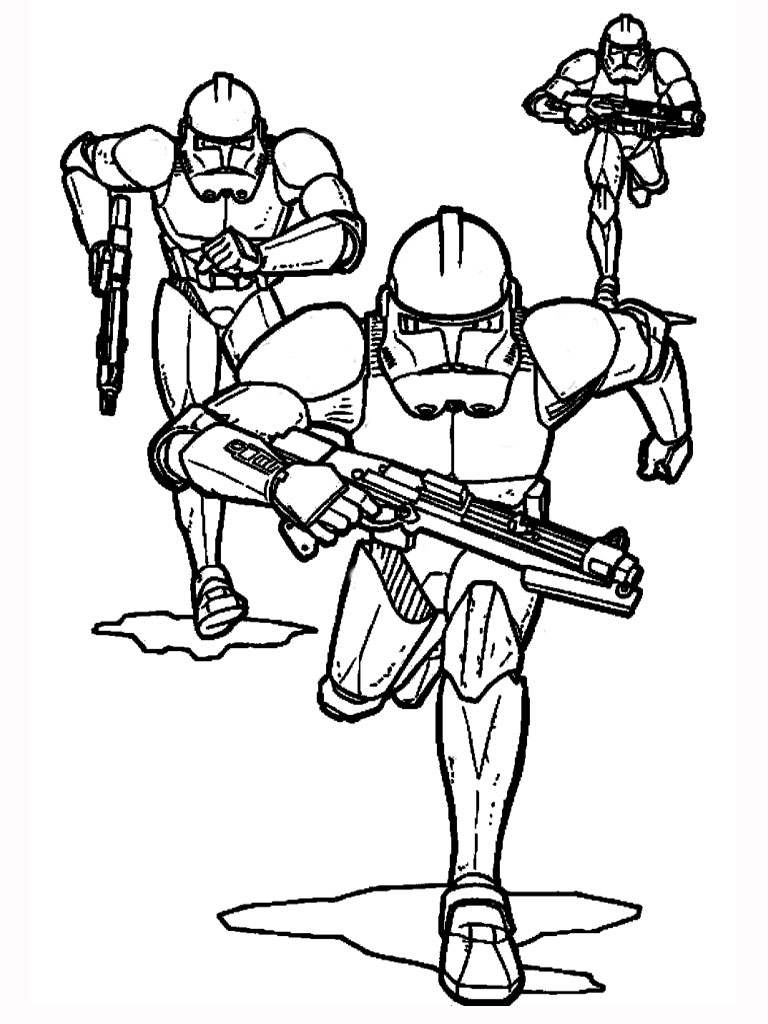 768x1024 Free Printable Star Wars Coloring Pages