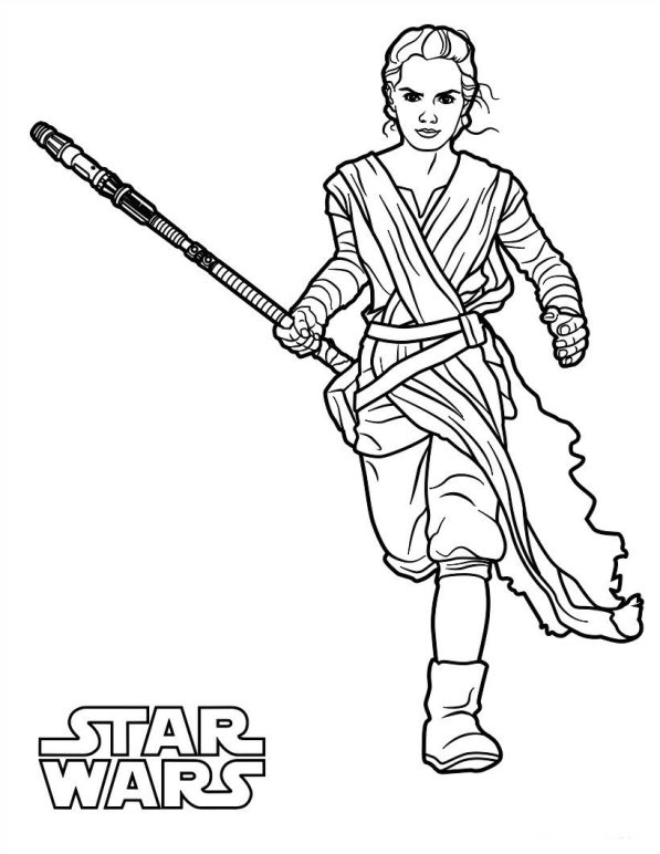 597x772 Kids N 21 Coloring Pages Of Star Wars The Force Awakens
