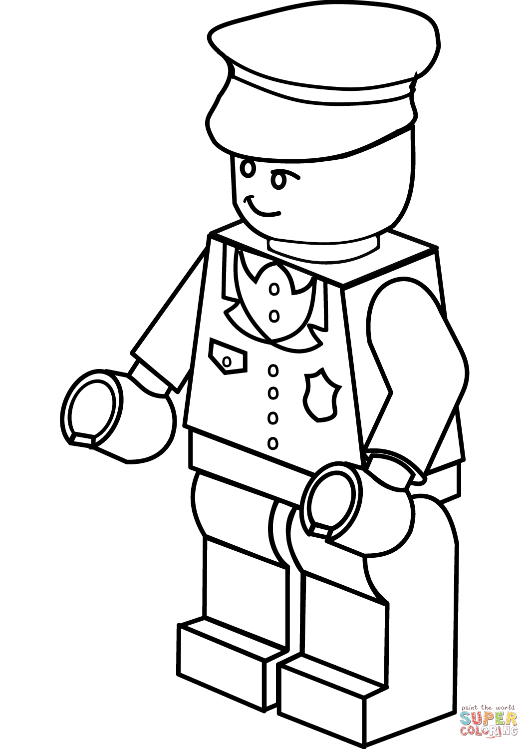 1060x1500 Lego Policeman Coloring Page Free Printable Coloring Pages