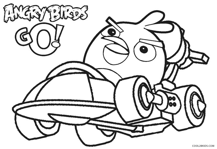 850x584 Printable Angry Birds Coloring Pages For Kids Cool2bkids