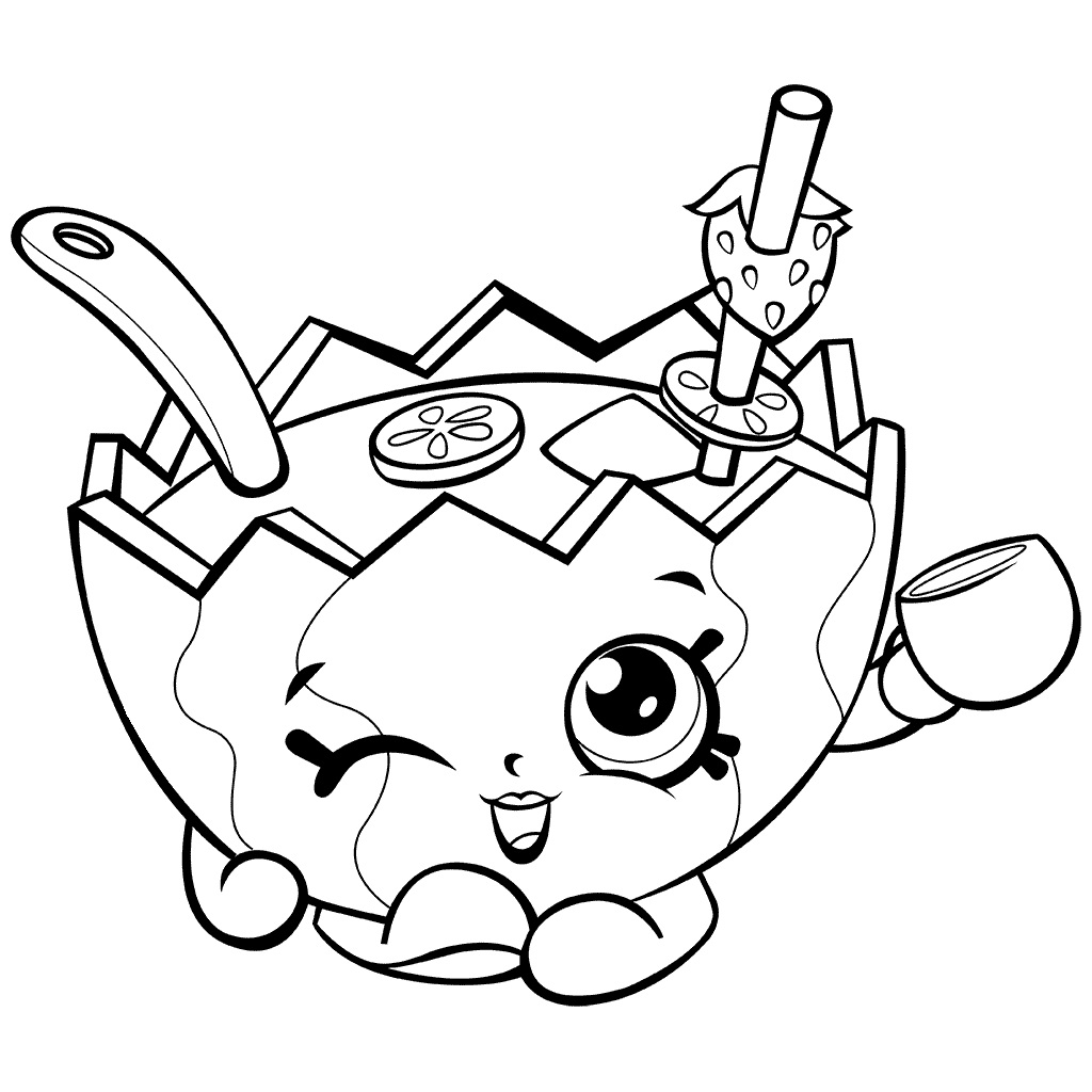1024x1024 Shopkins Coloring Pages