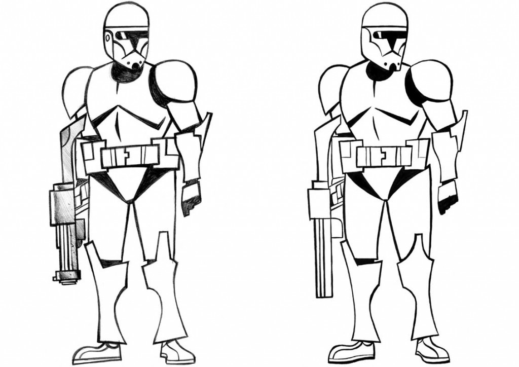 1024x724 Star Wars Coloring Pages