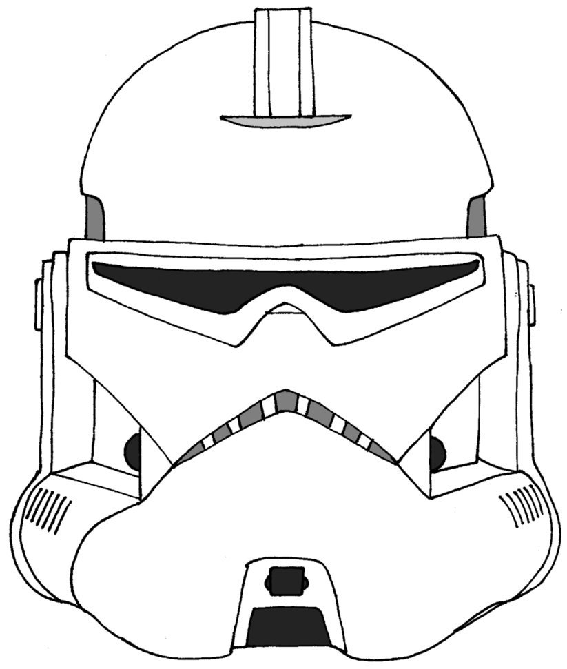 823x971 Stormtrooper Helmet Coloring Page Many Interesting Cliparts