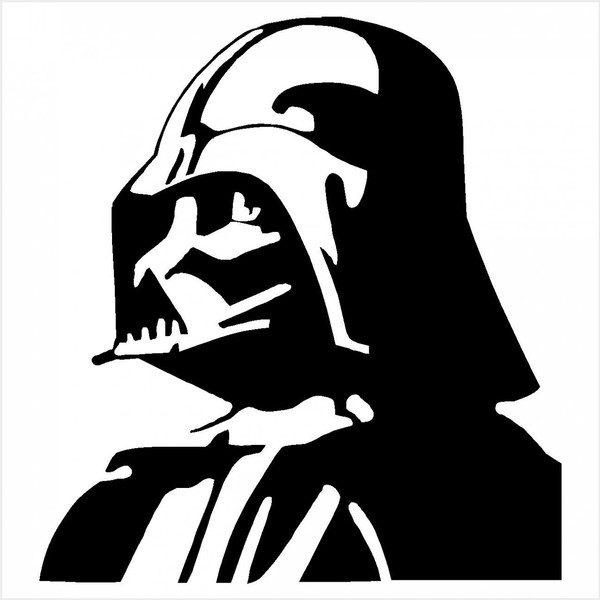 600x600 Darth Vader Clipart Black And White