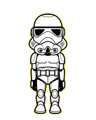 Star Wars Clipart Black And White