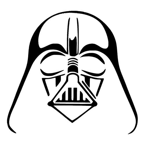 500x500 Drawn Darth Vader Black And White