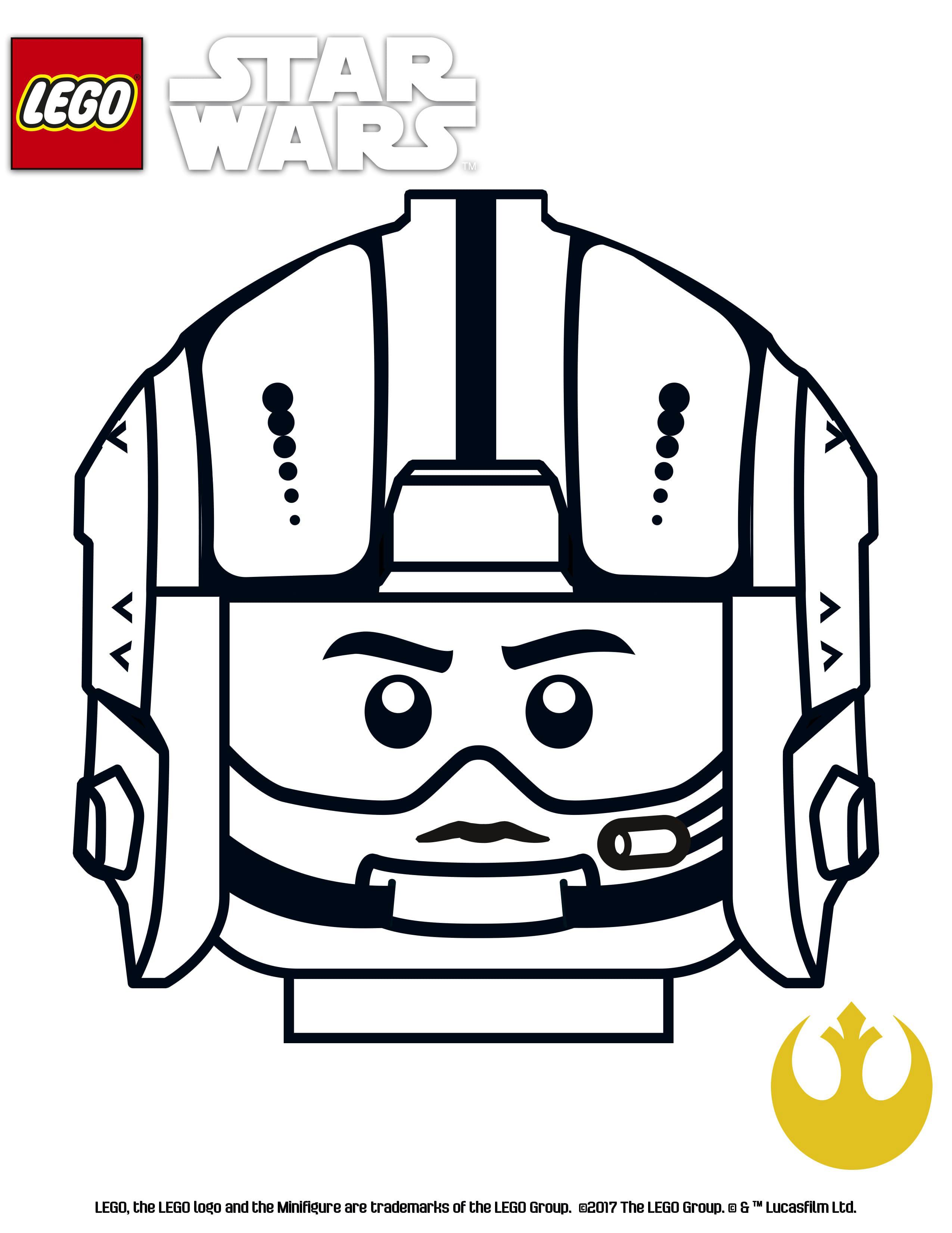 Lujoso Guerras De Lego Star Wars De Lego Para Colorear Patrón ...