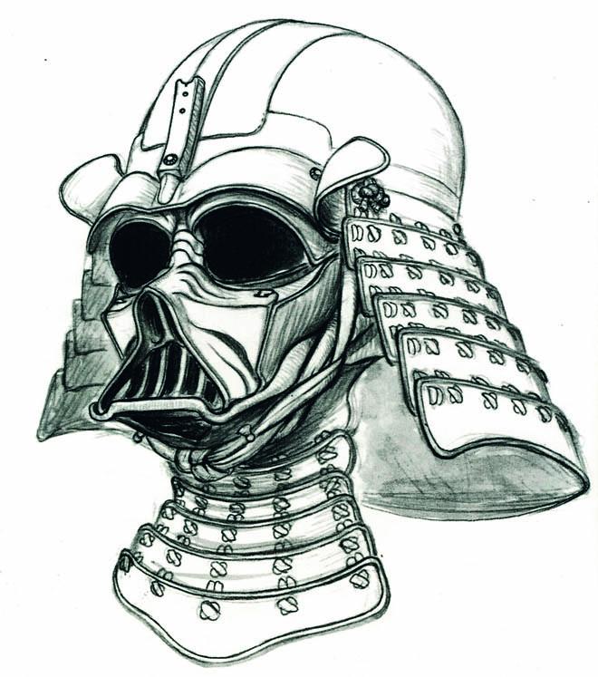 660x747 Drawn Darth Vader Darh