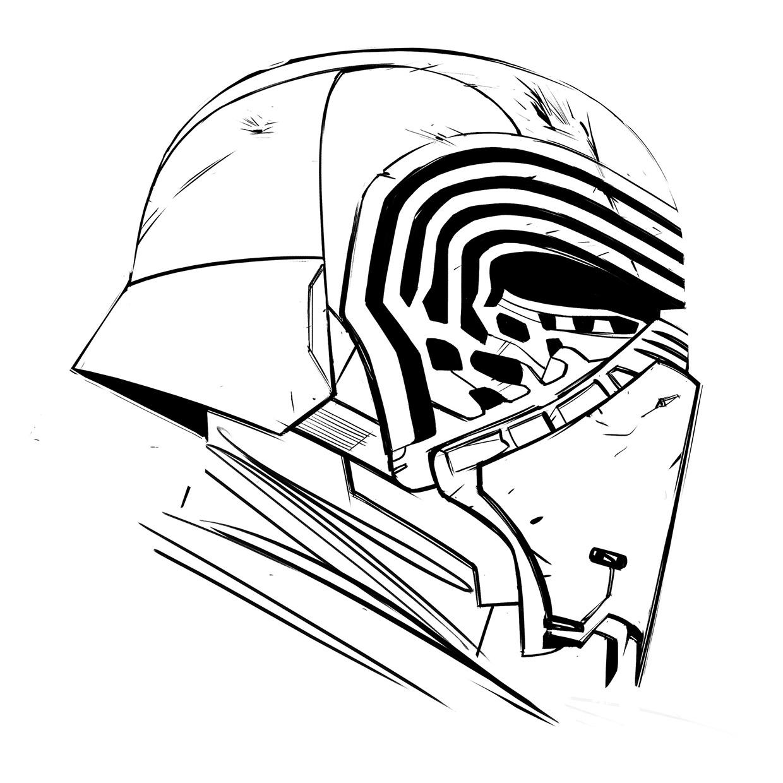 1240x1240 Drawn Star Wars Kylo Ren