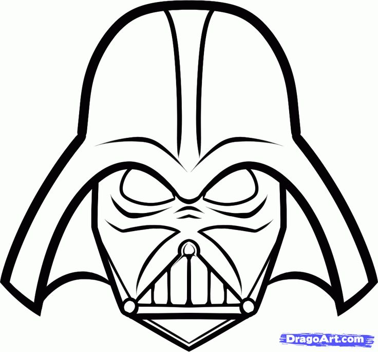736x684 Drawn Star Wars Simple