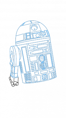 215x382 How To Draw R2 D2, Star Wars, Movie, Easy Step By Step Drawing