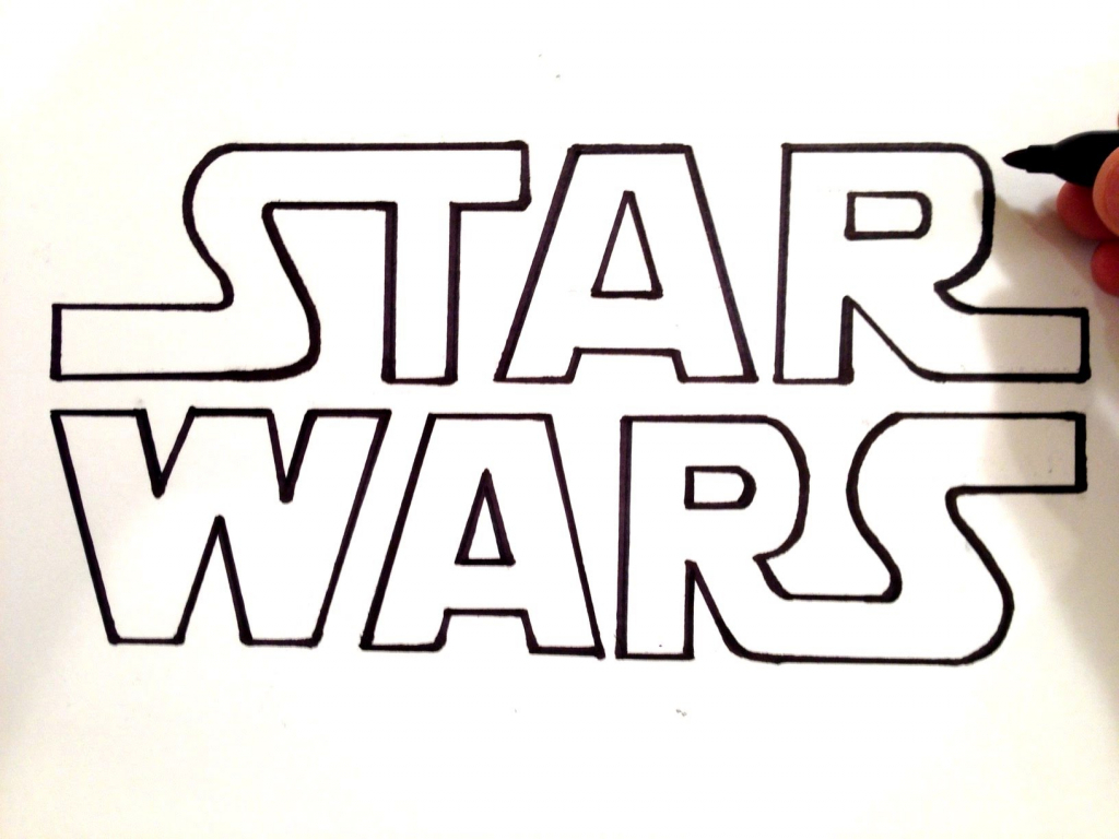 1024x768 Star Wars Drawing How To Draw Star Wars Youtube