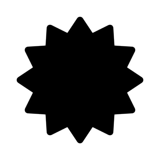 626x626 Black Starburst Icons Free Download