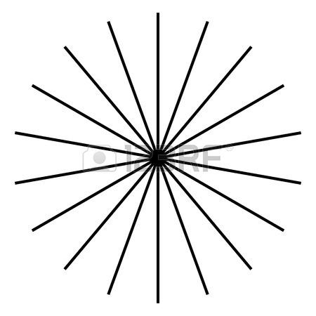 450x450 Radiating, Radial Lines. Starburst, Sunburst Shape. Ray, Beam