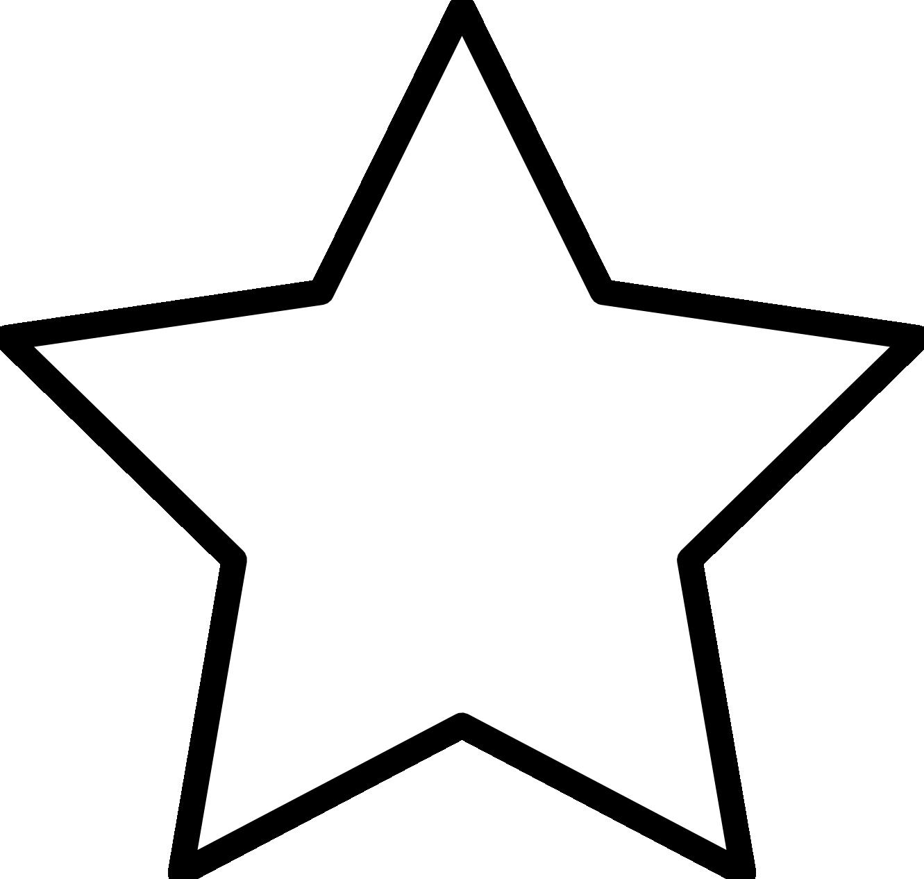 1331x1266 Star Clip Art Outline Black And White Clipart Panda