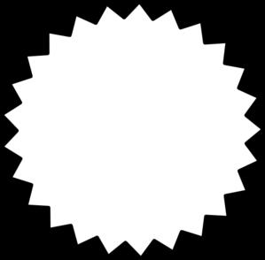 299x294 Starburst Outline Black Clip Art