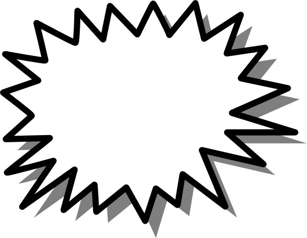 600x465 Starburst Clipart Black And White Free Clipart Image
