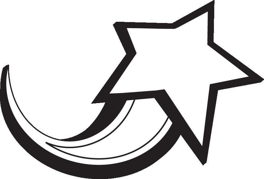 870x592 Starburst Shooting Star Clip Art Black And White Free