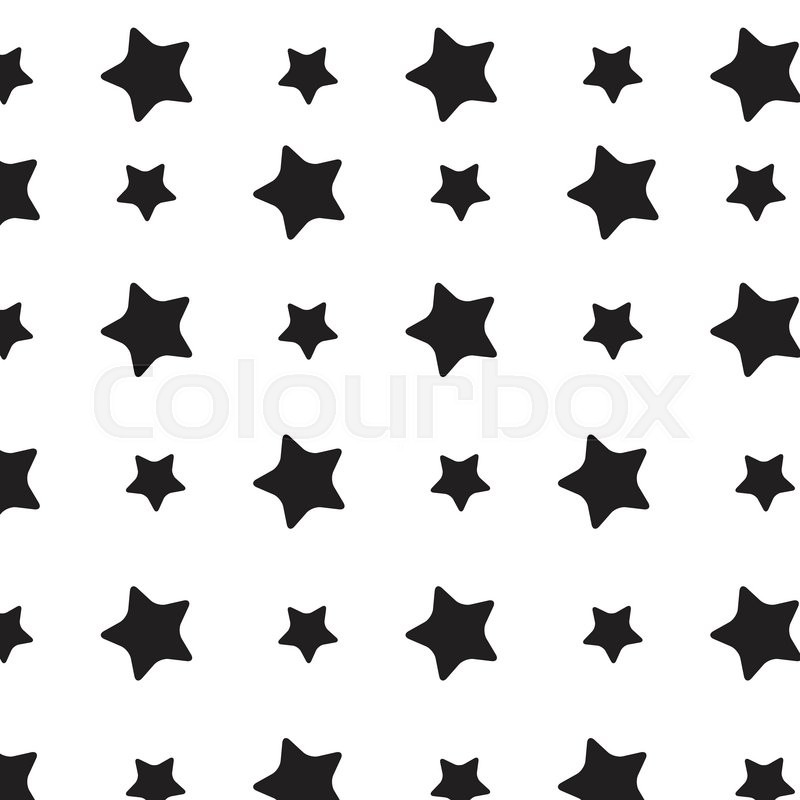 800x800 Stars Sky Black White Pattern. Stars Background And Starburst