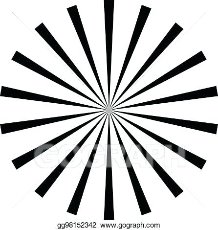 446x470 Sunburst Clipart Abstract Radial Lines Starburst Sunburst Circular