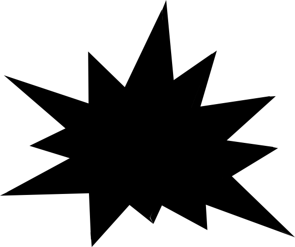 600x503 Black And White Starburst Clipart