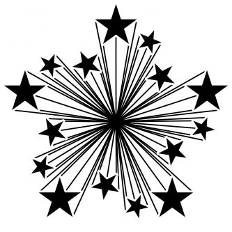 333x333 Black And White Starburst Clipart 2 Starburst Clipart