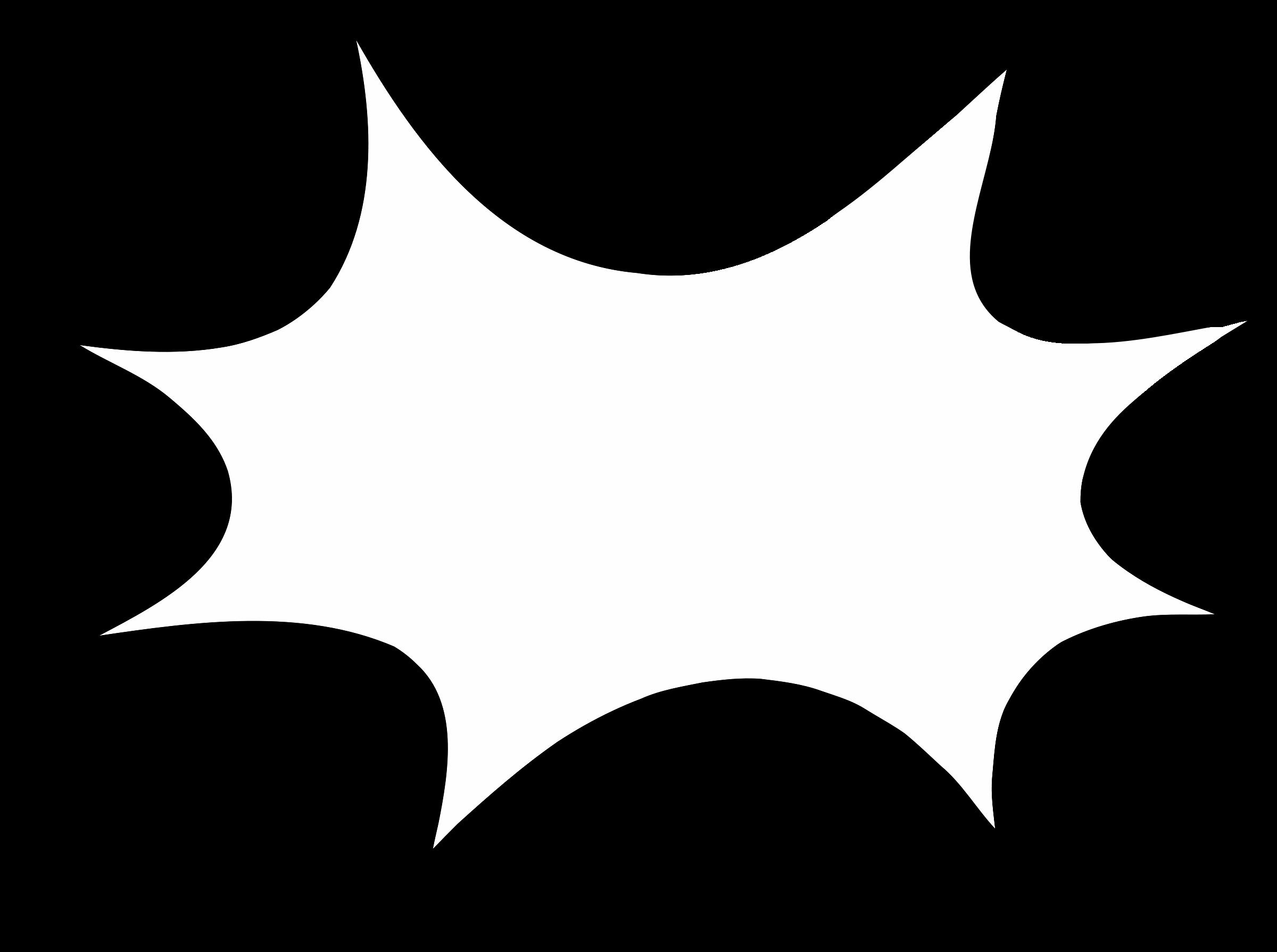 2400x1790 Black And White Starburst Clipart