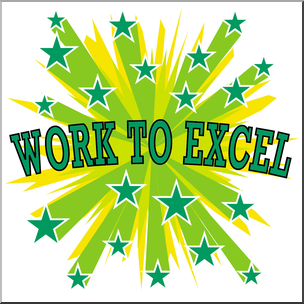 304x304 Clip Art Starburst Work To Excel Color I Abcteach