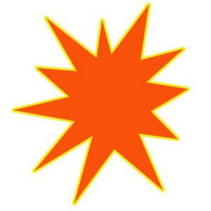 300x300 Free Starburst Clip Art Image