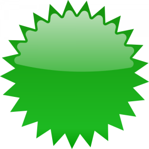 300x300 Star Burst Blank Green Clip Art Download
