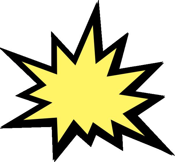 600x557 Comics Clipart Explosion