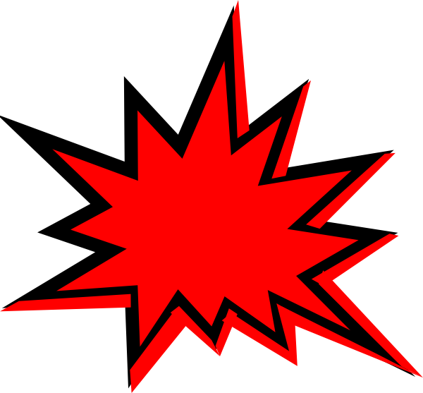 600x557 Explosions Clipart Starburst