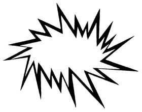 280x220 Free Starburst Clip Art Image