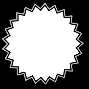 300x300 Starburst Clipart Vector