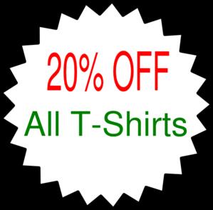 299x294 Starburst Outline 20% Sale Clip Art