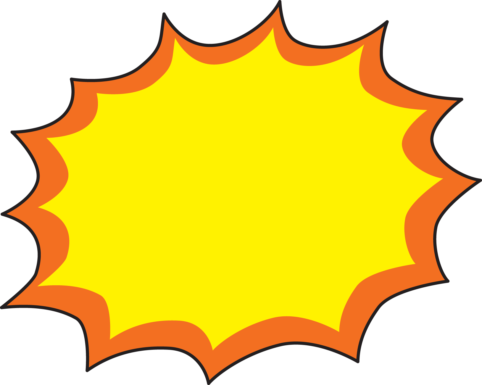 1629x1301 Yellow Clipart Explosion
