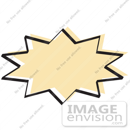 450x450 Royalty Free Cartoon Clip Art Of A Tan Starburst With A Black