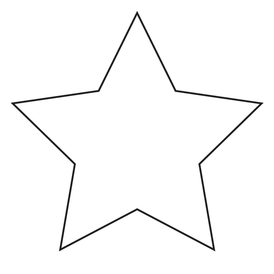 1080x1080 Starburst Stars Clipart Blank Pencil And In Color Stars