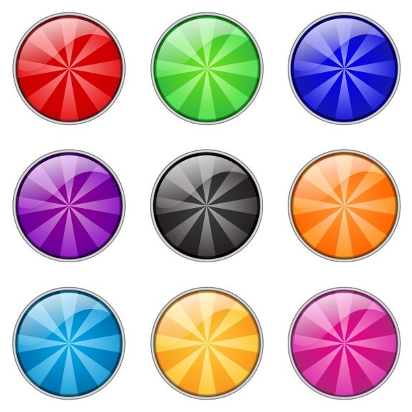 600x600 Colorful Starburst Buttons