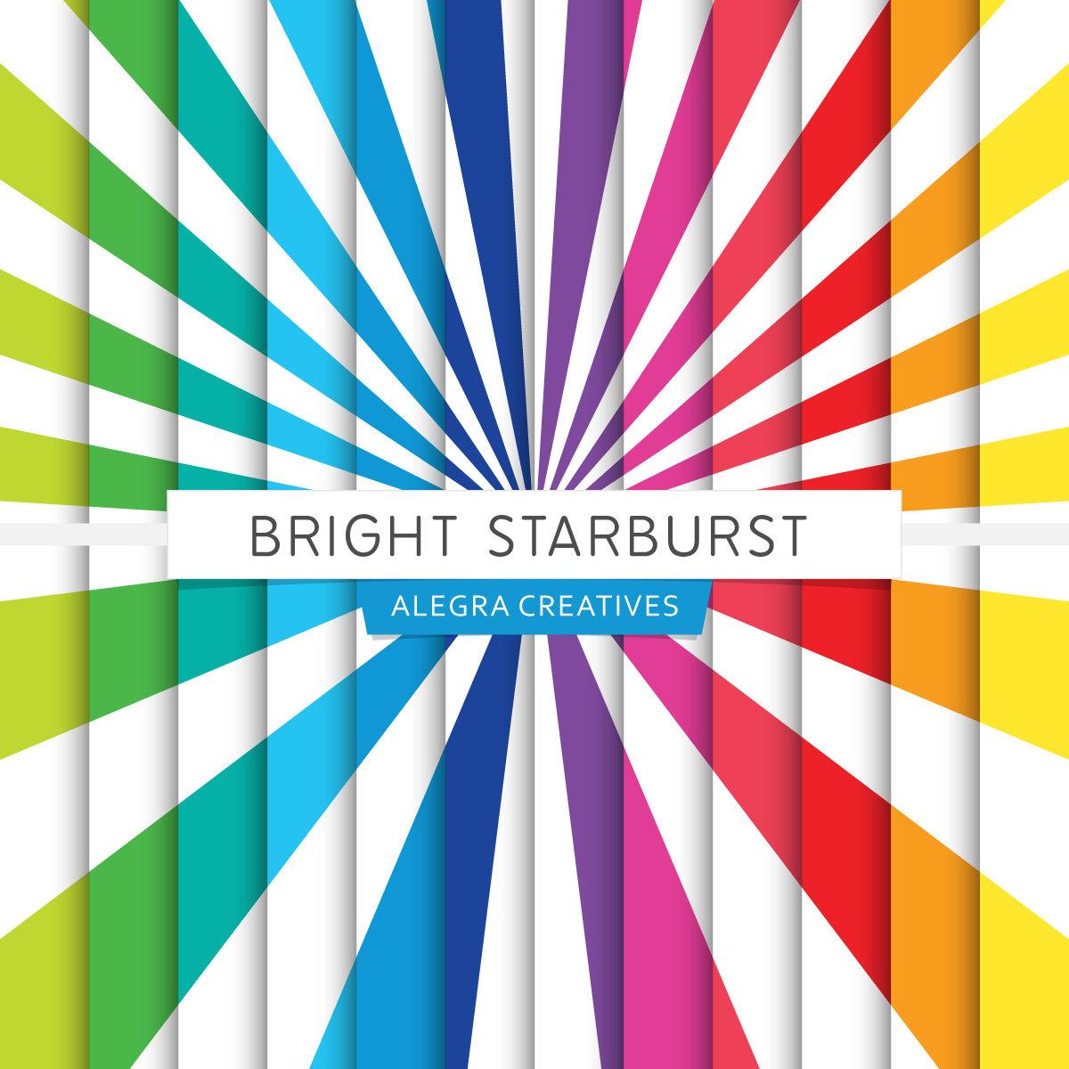 1200x1200 Starburst Digital Paper 10 Starburst Backgrounds In Brights