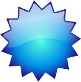 167x168 Glossy Button Blank Blue Starburst