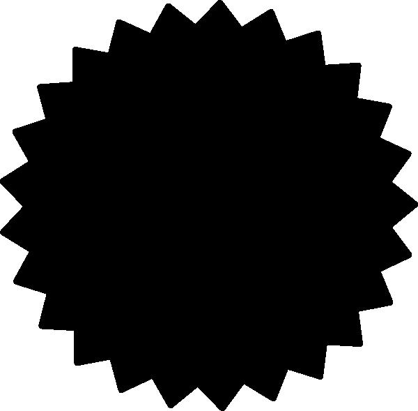 600x589 Black And White Starburst Clipart
