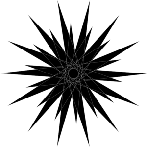 300x300 Black Starburst Clip Art