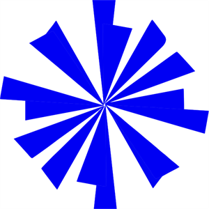 300x300 Blue Starburst Png, Svg Clip Art For Web