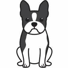 225x225 Boston Terrier Silhouette Clipart