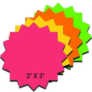 300x300 R001090 Rnb 3 Fluorescent Die Cut Starburst Rainbow Pack