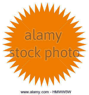 300x320 Starburst, Sunburst Shape. Flat Price Tag, Price Flash Icon Stock