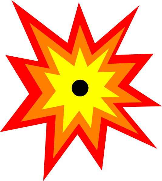 534x597 Yellow Clipart Explosion